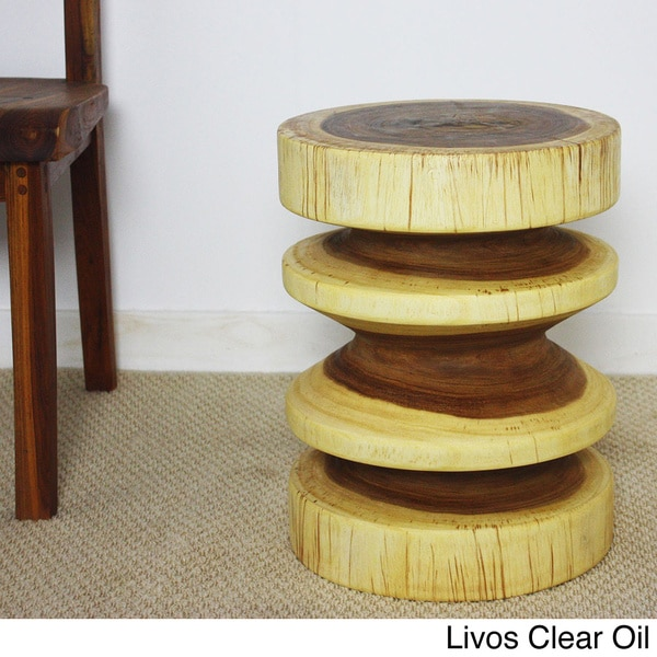 18-inch High Round Zig-zag End Table (Thailand)