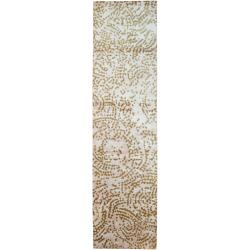 Hand-knotted Keswick Abstract Design Wool Rug (2 '6 x 10')