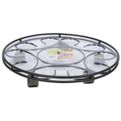 Plastec SC14BK Saucer Caddy Black 14-Inches