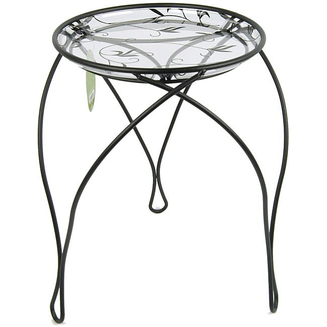 """'The Elegance' Plant Stand, Black (17"""" Inches)"""