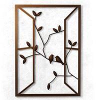 Plastec 'Open Window' Dark Bronze  Wall Piece