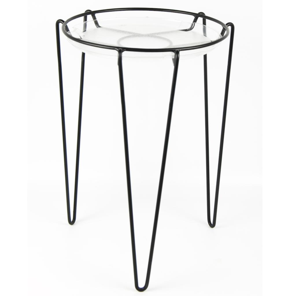 "'Delray' Plant Stand, Black (18"" Inches)"