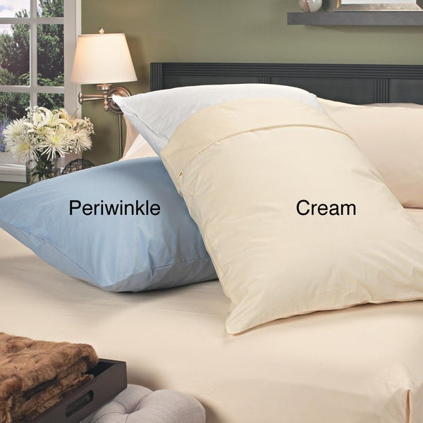 Famous Maker Oversized Down and Feather Cuddle Pillow with Protective Zip Cover