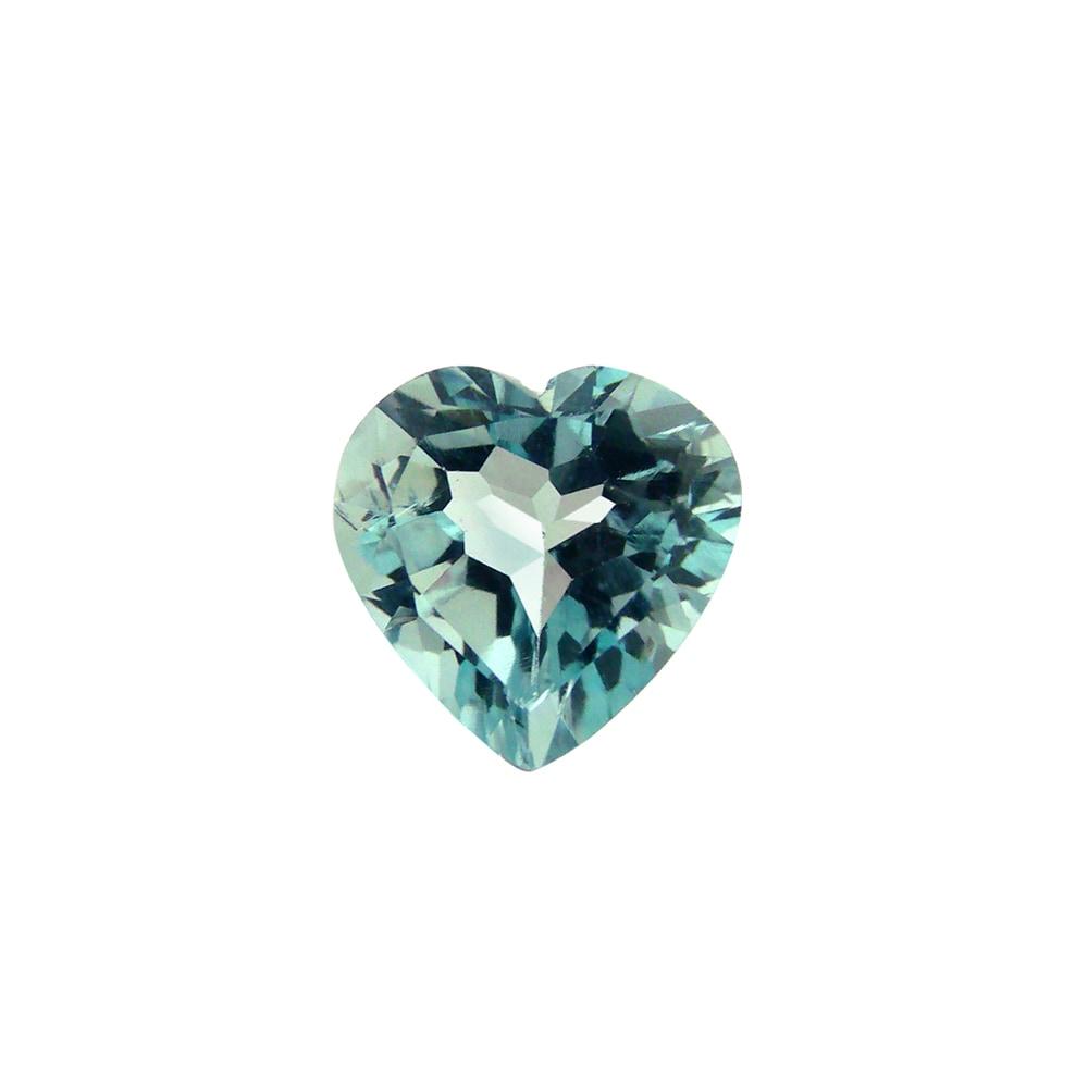Glitzy Rocks 10x10 Blue 3ct TGW Topaz Heart Stone