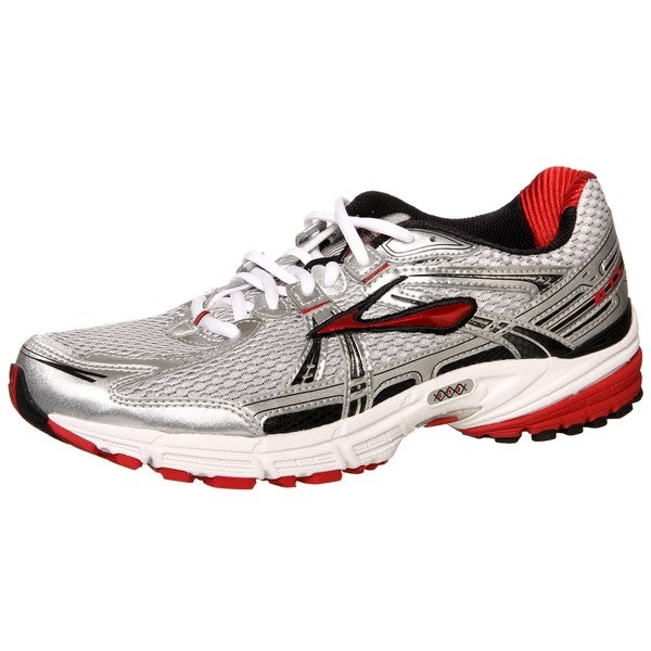 Brooks Men S Adrenaline Gts  Silver Red Athletic Shoes