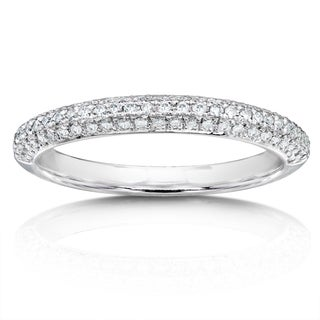 Annello by Kobelli 14k White Gold 1/3ct TDW Diamond Wedding Band