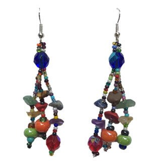 Handmade Luzy Multicolored Earrings (Guatemala)