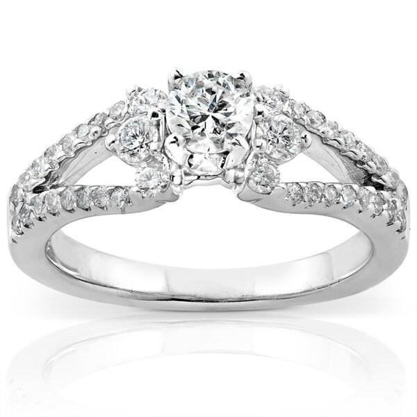 Annello by Kobelli 14k White Gold 3/4ct TDW Diamond Engagement Ring (H-I, I1-I2)