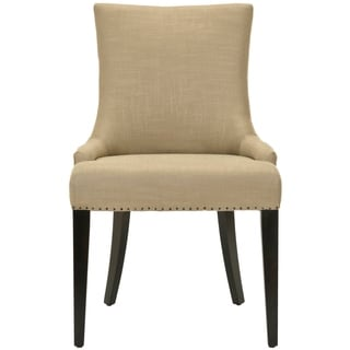 Safavieh En Vogue Dining Becca Beige Viscose and Leather Back Side Chair