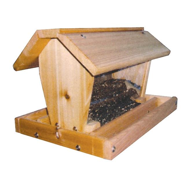 Cedar Medium Barn Hanging Bird Feeder