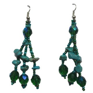 Luzy Turquoise Handmade Earrings (Guatemala)