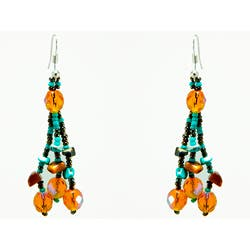 Handmade Luzy Turquoise Mocha Earrings (Guatemala)|https://ak1.ostkcdn.com/images/products/6367592/Luzy-Turquoise-Mocha-Earrings-Guatemala-P13984718a.jpg?impolicy=medium