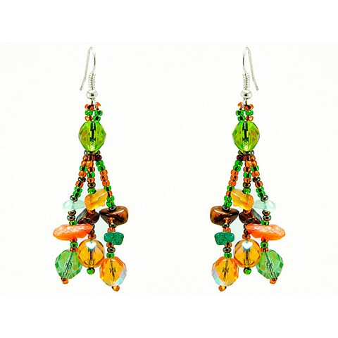 Handmade Earrings Luzy Foilage Earings (Guatemala)