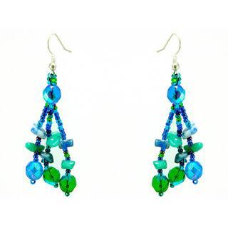Earrings Luzy Blue and Green Handmade Earrings (Guatemala)|https://ak1.ostkcdn.com/images/products/6367595/Earrings-Luzy-Blue-and-Green-Handmade-Earrings-Guatemala-P13984721.jpg?impolicy=medium