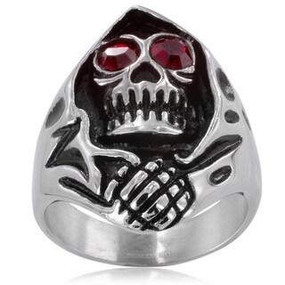 Stainless Steel Men's Grim Reaper Ring