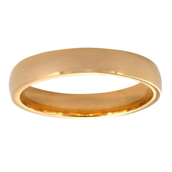 Stainless Steel Goldplated Wedding Band Ring (3mm)