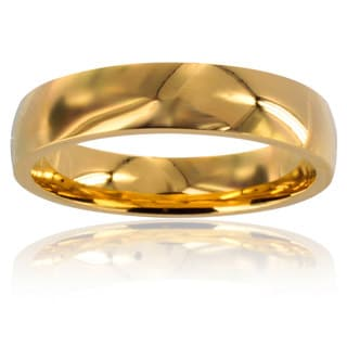 Stainless Steel Goldplated Wedding Band Ring (4mm)