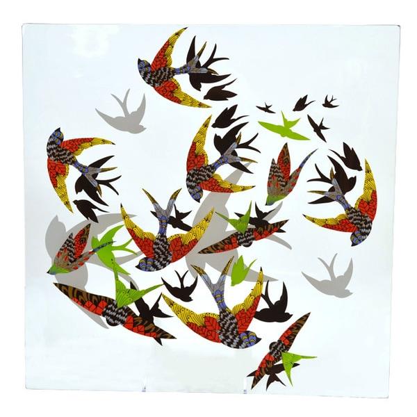 Birds in Flight Tempered Glass Platter