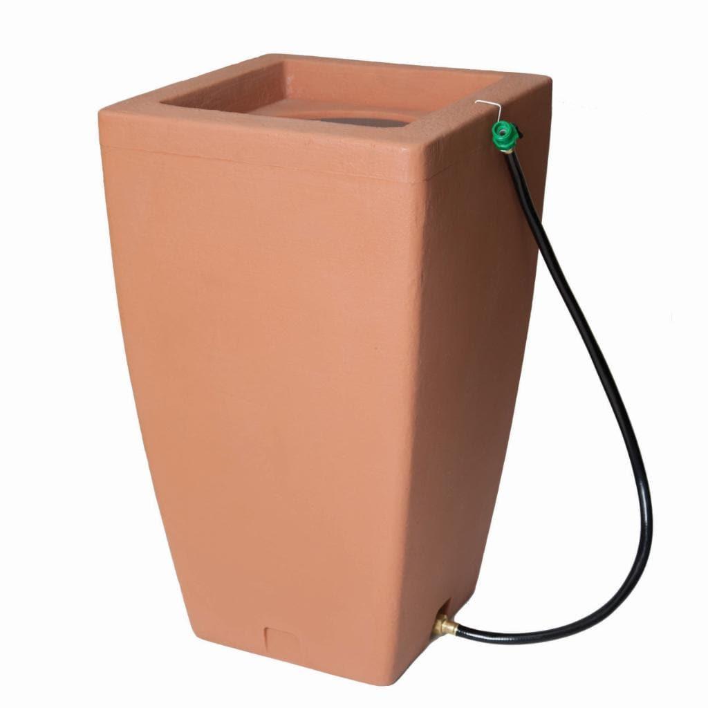 Algreen Rain Barrel Terra Cotta 49 Gallon Free Shipping
