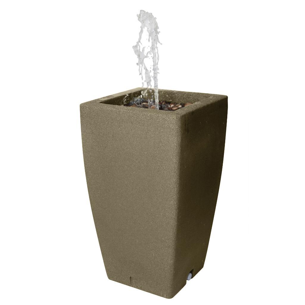 Algreen Madison Fountain and Rain Barrel-Sandstone(49 Gallon)