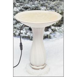 Heated Birdbath On Pedestal (20-Inch)