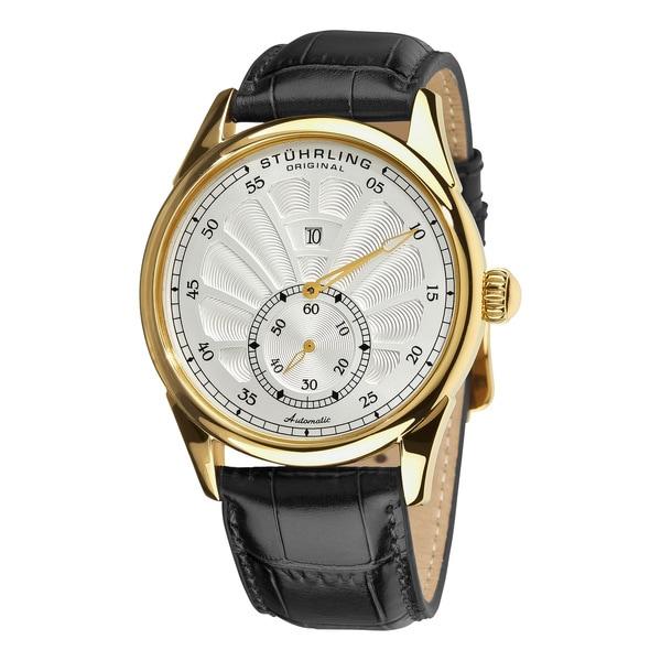 Stuhrling Original Men's White-Dial Patriarch Automatic Watch