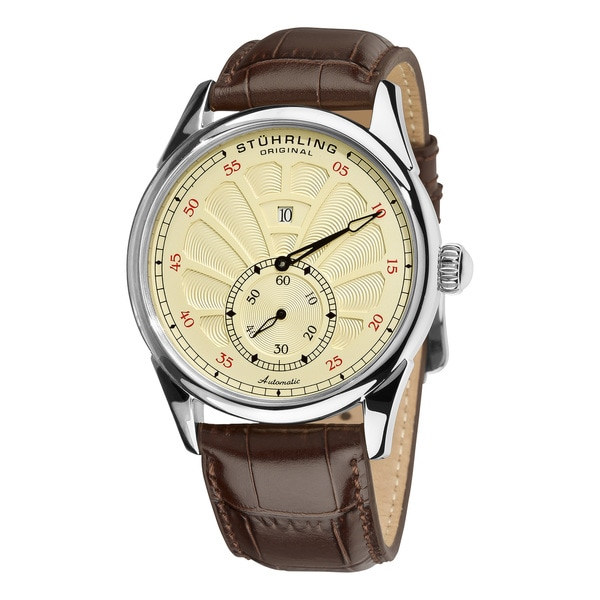 Stuhrling Original Men's Vanilla-Dial Patriarch Automatic Watch
