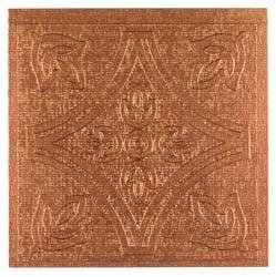 Metallo Wall Copper 4x4 Self Adhesive Vinyl Wall Tile - 27 Tiles/3 sq Ft.