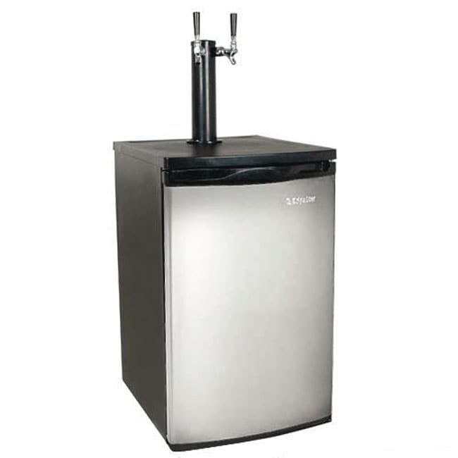 EdgeStar Full Size Stainless Steel Dual Tap Kegerator & Draft Beer Dispenser Sold by Living Direct