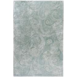 Hand-tufted Vannes Paisley Print Wool Area Rug - 5' x 8' - Thumbnail 0