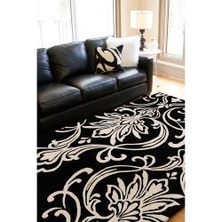 Hand-tufted Bondy Damask Pattern Wool Rug (3'3 x 5'3)