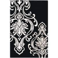 Hand-tufted Bondy Damask Pattern Wool Area Rug (3'3 x 5'3) - 3'3 x 5'3