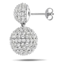 Miadora Sterling Silver White Cubic Zirconia Dangle Earrings (13 1/3ct TGW)