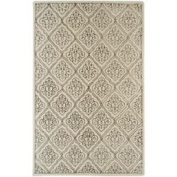 Hand-tufted Troyes Contemporary Geometric Wool Area Rug - 5' x 8' - Thumbnail 0