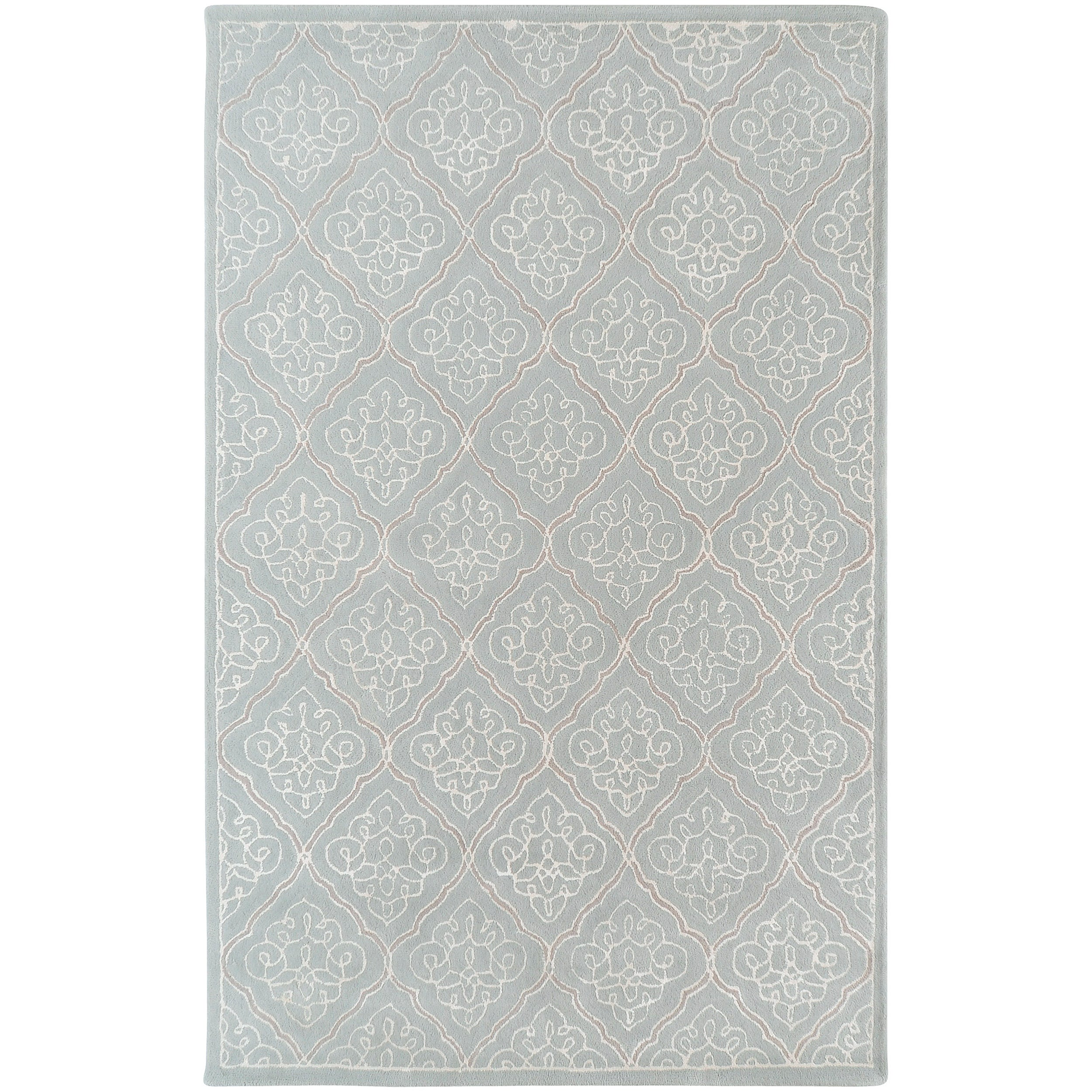 Hand-tufted Quimper Contemporary Geometric Wool Area Rug - 8' x 11'