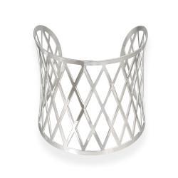 Mondevio Stainless Steel Diamond Design Cuff Bracelet