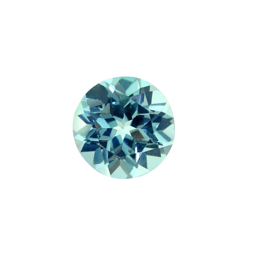 Glitzy Rocks Round 12mm 7.75ct TGW Blue Topaz Stone