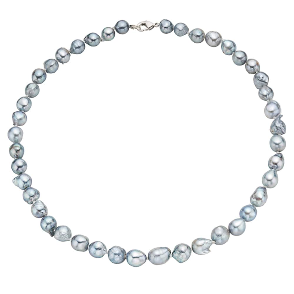 """7-8 mm Black Akoya Cultured Pearl Necklace 18/"""""""