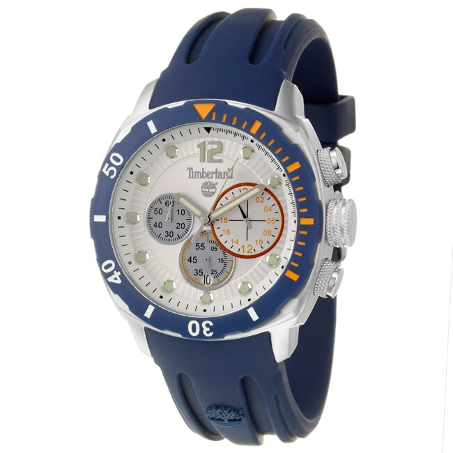 Timberland Men's 'Ocean Adventure' Stainless Steel and Silicon Quartz Chronograph Watch