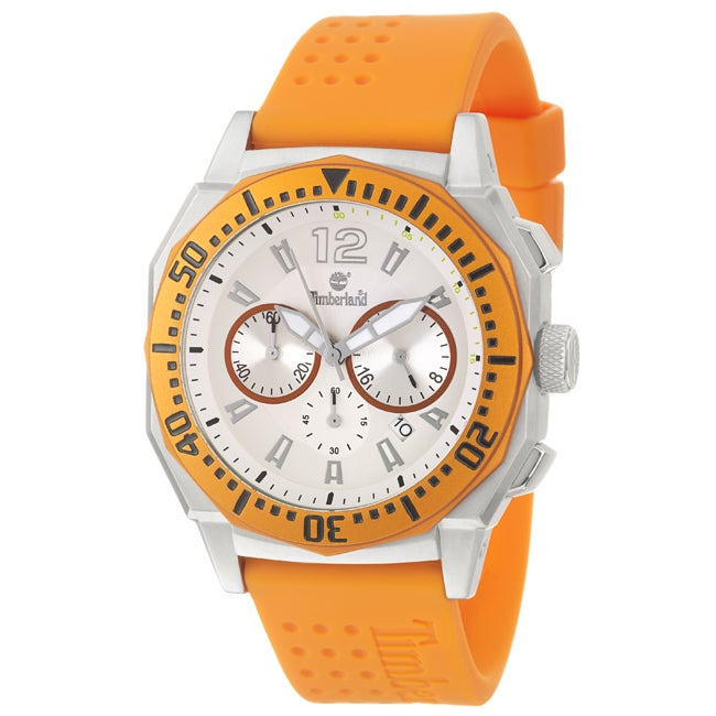 Timberland Men's 'Steprock' Stainless Steel and Silicon Quartz Chronograph Watch