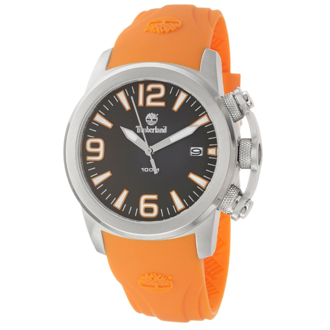 Timberland Men's 'Fastpack' Stainless Steel and Silicon Quartz Watch