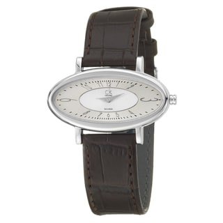 Calvin Klein Women's 'Course' Stainless Steel and Leather Quartz Watch
