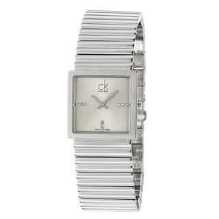 Calvin Klein Women's 'Spotlight' Stainless-Steel Silvertone-Hands Quartz Diamond Watch
