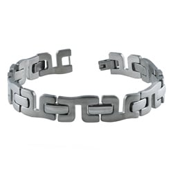 Dakota West Stainless Steel Men's Curved Y-link Bracelet