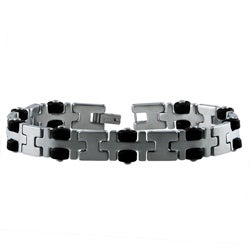 Dakota West Stainless Steel Men's Multi-shape Link Bracelet