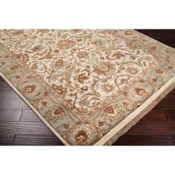 Hand-knotted Salish Semi-worsted New Zealand Wool Rug (3'6 x 5'6) - Thumbnail 1