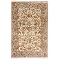 Hand-knotted Salish Semi-worsted New Zealand Wool Area Rug - 3'6 x 5'6