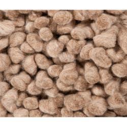 Hand-woven Aprilia Colorful Plush Shag New Zealand Felted Wool Rug (3'6 x 5'6)