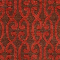 Hand-knotted Bacup Wool Rug (9' x 13')