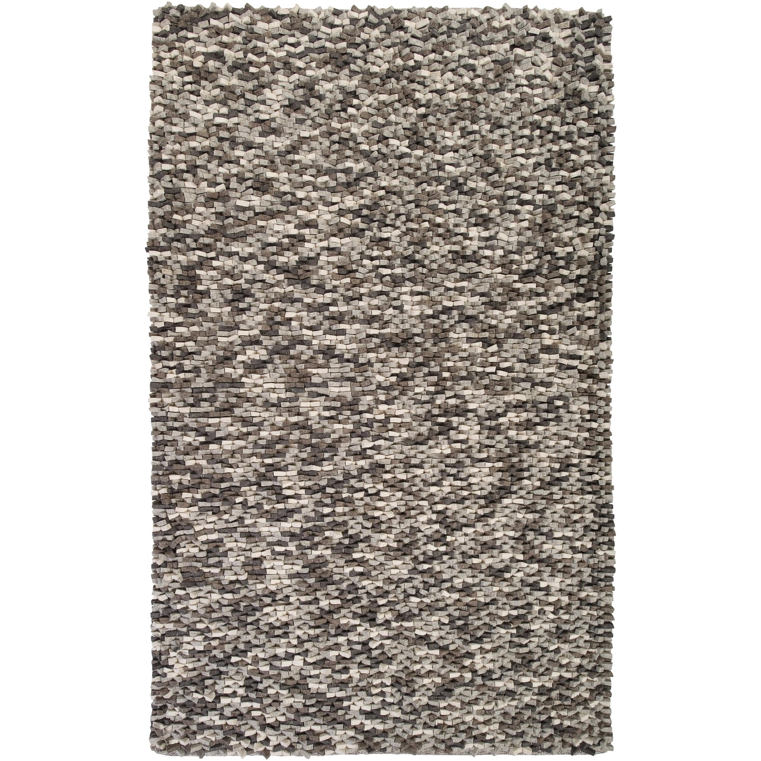 Hand-woven Blackpool New Zealand Wool Plush Textured Area Rug - 8' x 10'